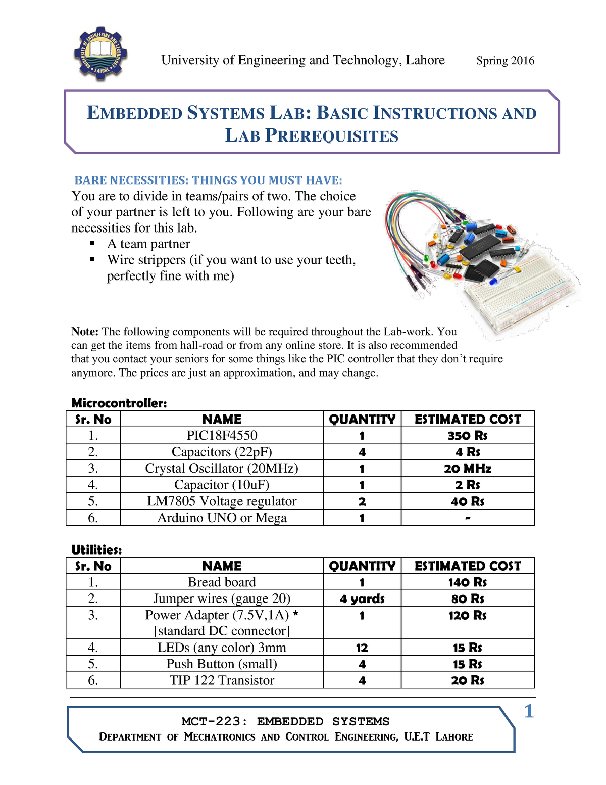 Practical - Assembly Programs, Lab 1-4 - Embedded system