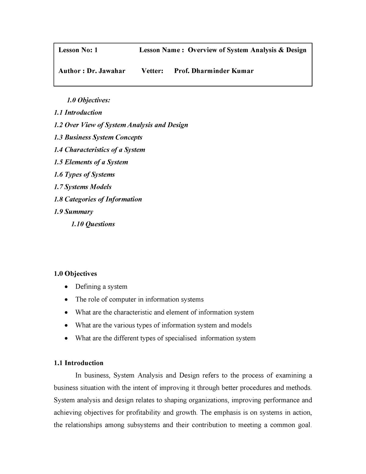 System Analysis And Design Im 305 Udsm Studocu