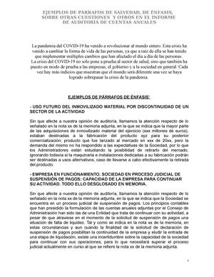 Párrafo De Enfasis Contabilidad Agrícola Studocu