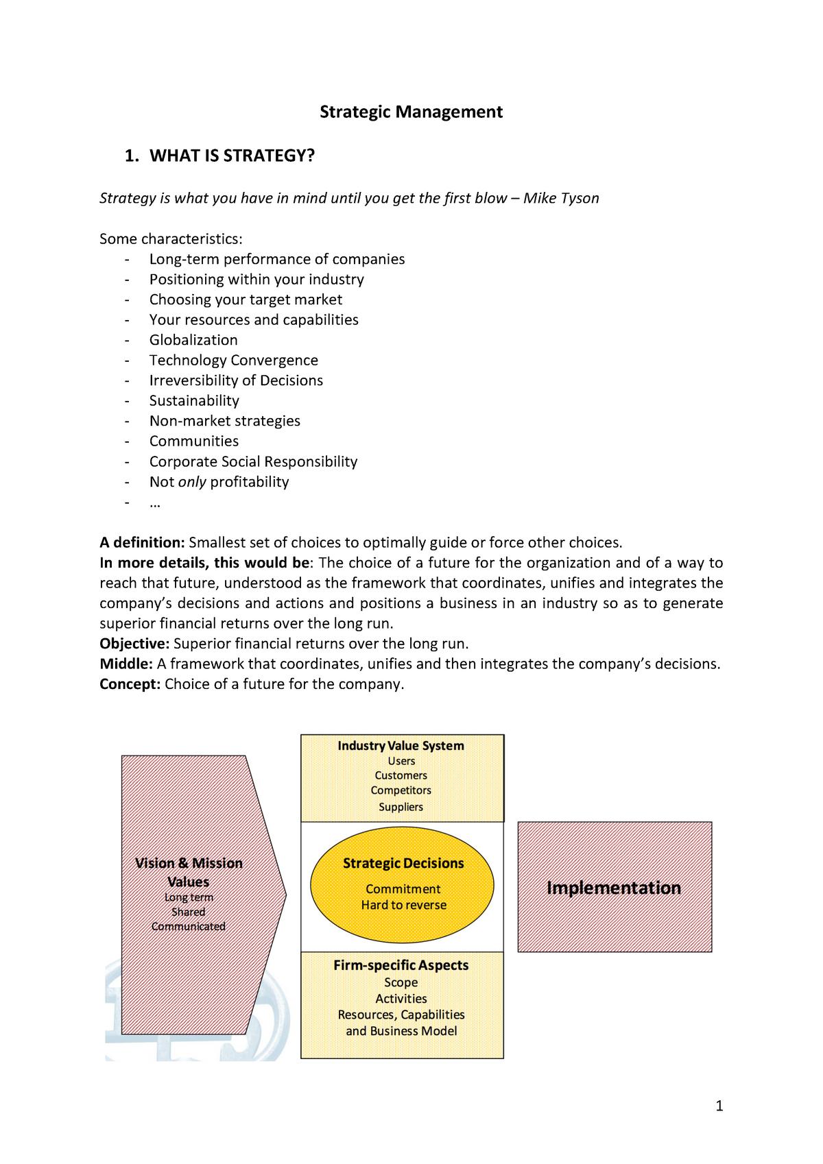 Strategic Management PDF - D0R04A - StuDocu