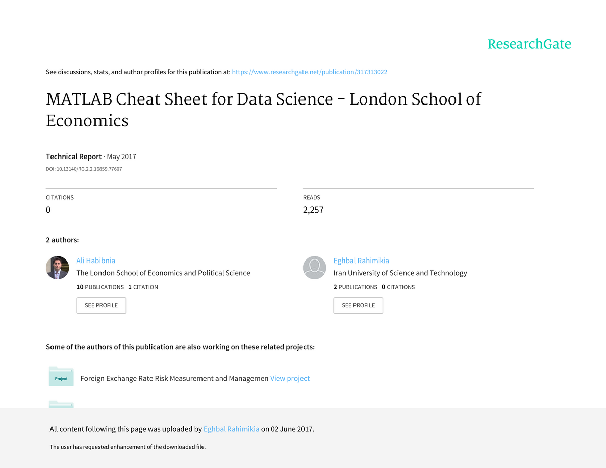 Matlab-Cheat-Sheet-for-Data-Science London Schoolof