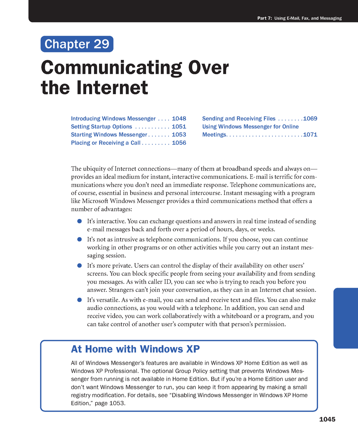 Chapter 29 - Communicating Over the Internet - Principles of