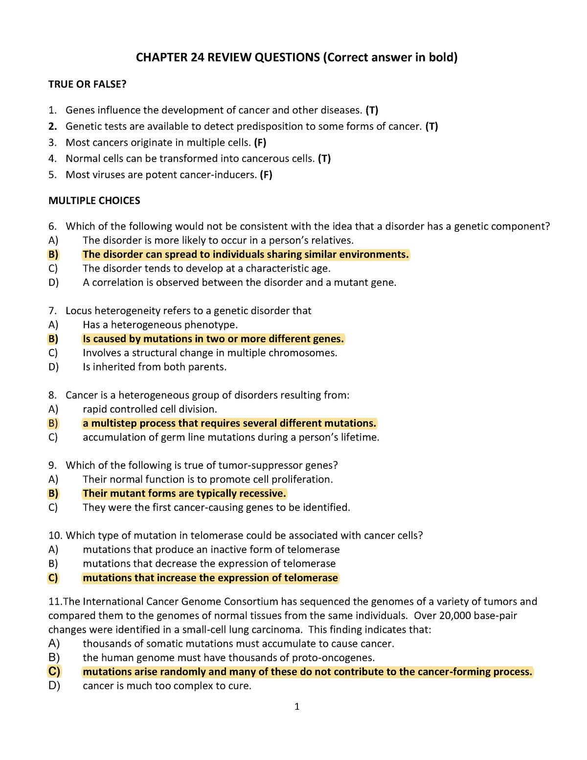 Chapter 24 Review Questions with answer key - StuDocu