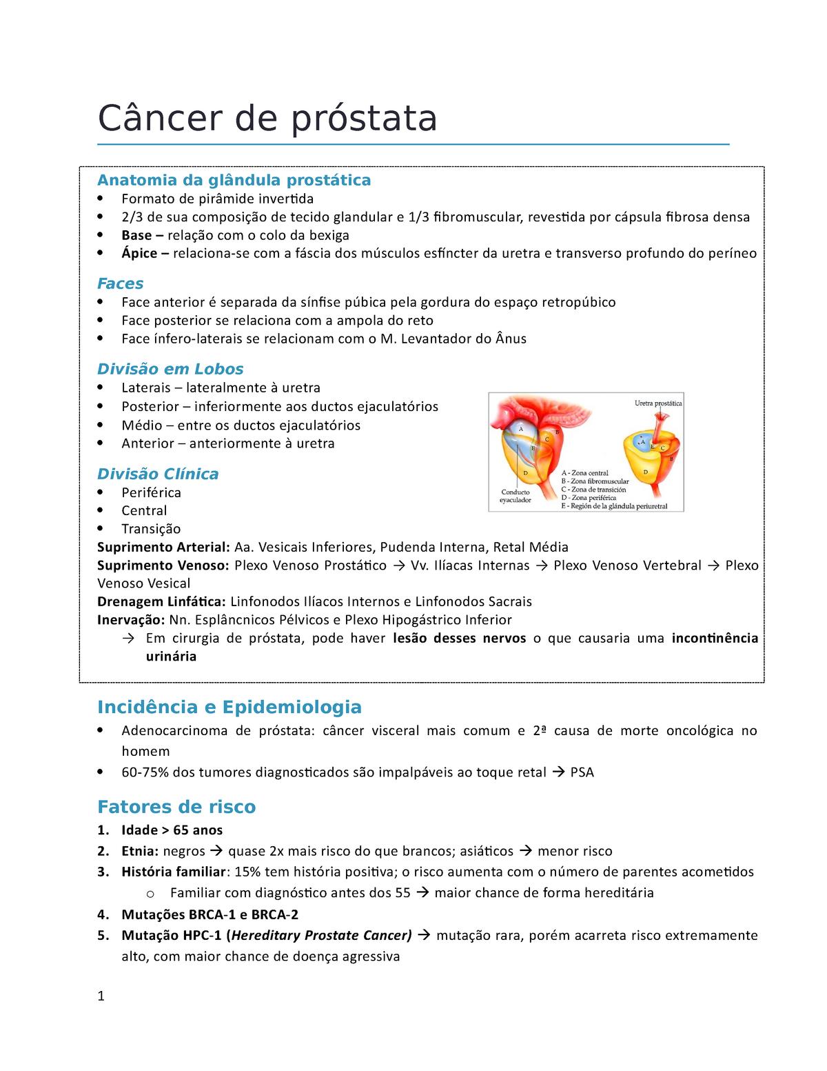 adenocarcinoma prostatico di tipo acinar cura 2