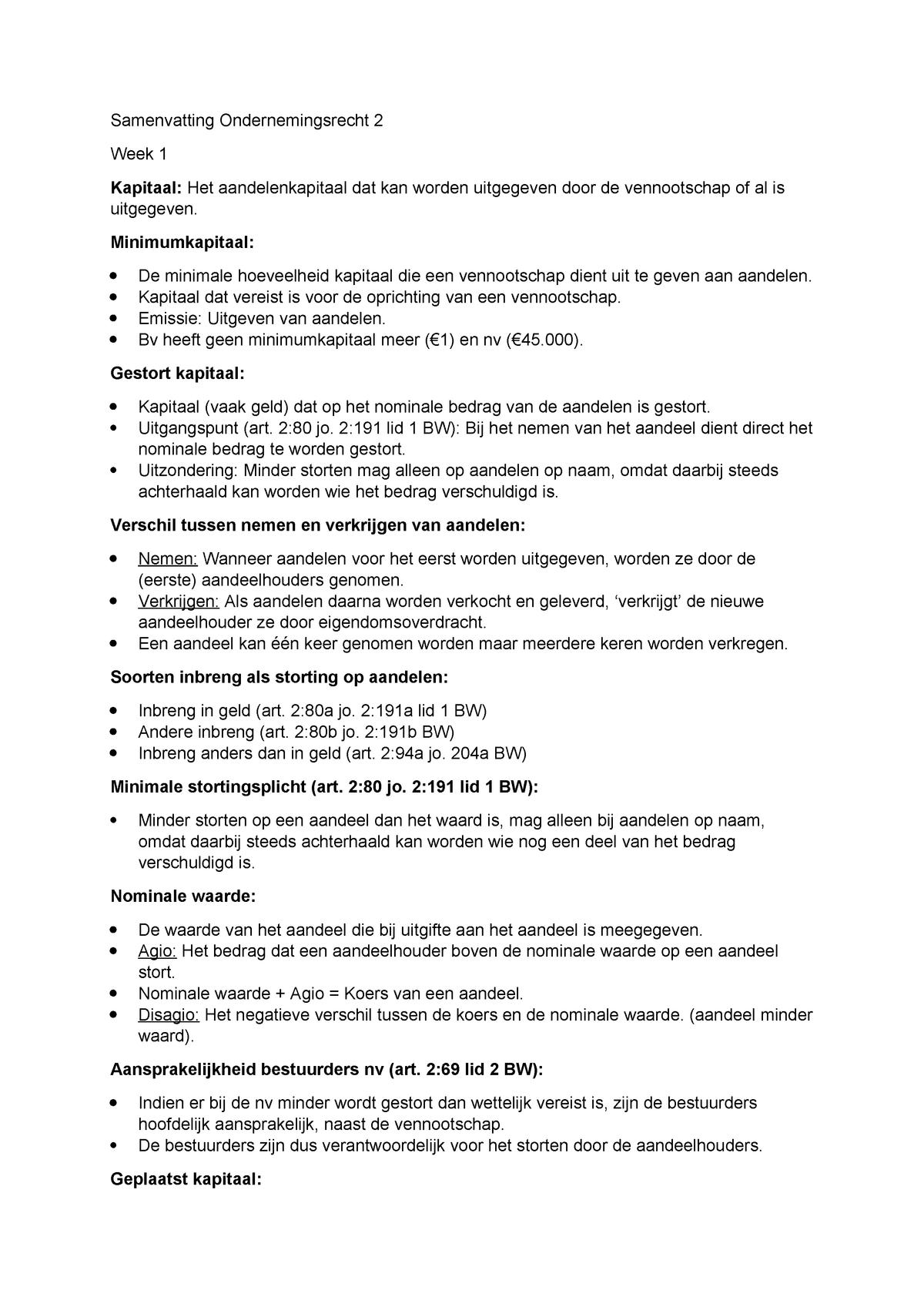 Naamloze vennootschap / Besloten vennootschap