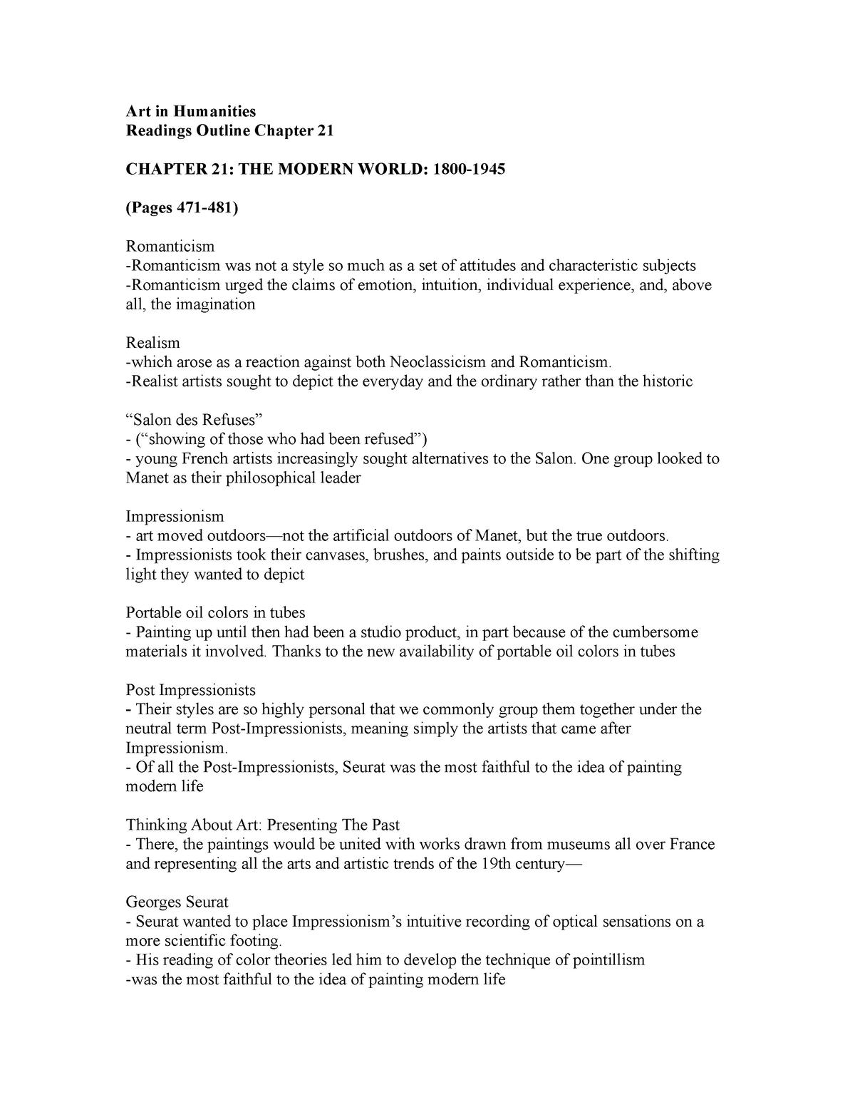 Chapter 21 - Summary World Art - ART 310 - EWU - StuDocu