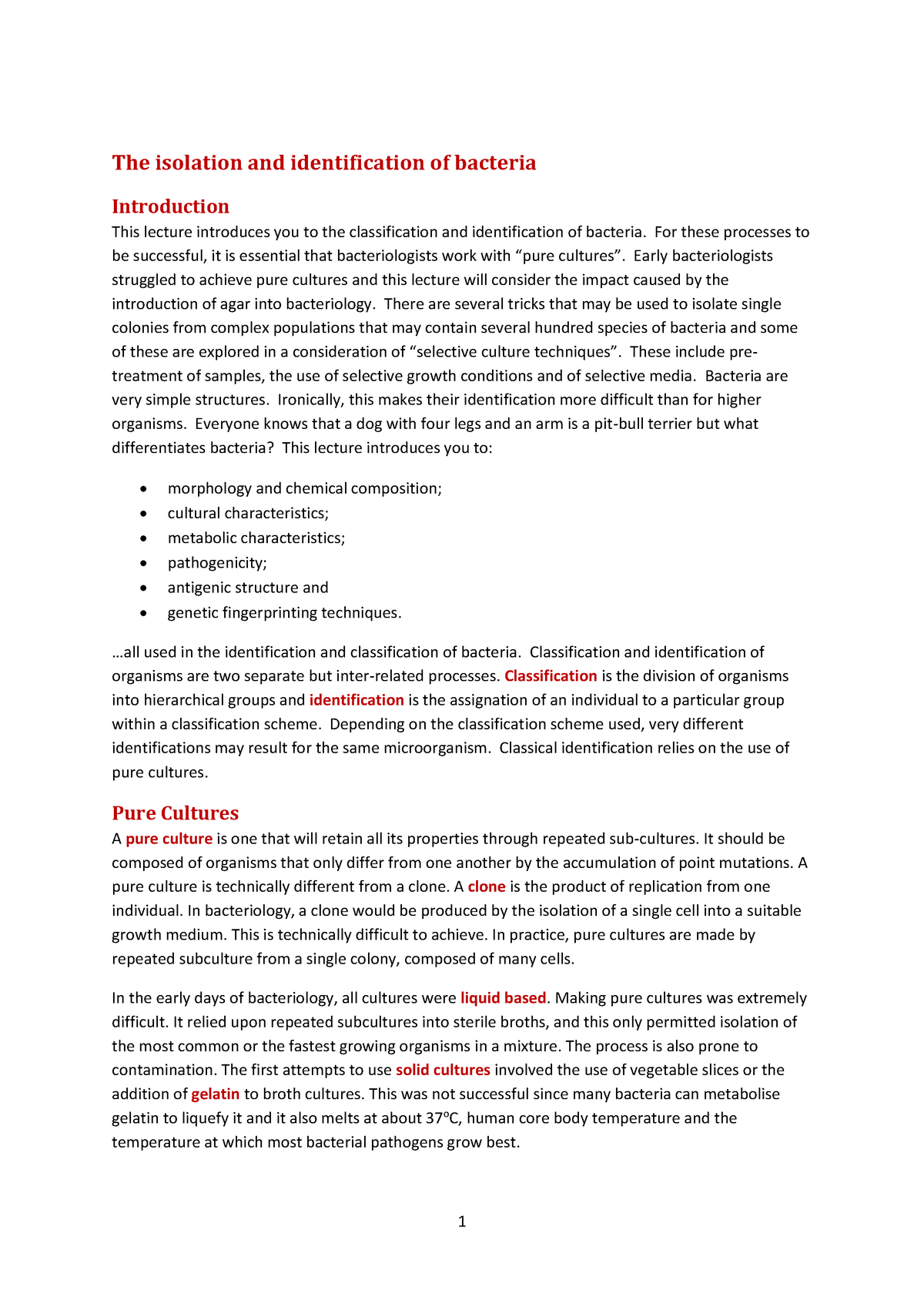 L3-Bacterial isolation and identification - - LBU - StuDocu