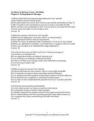 Chapter 5 - COMM 3160 Business Communications - StuDocu