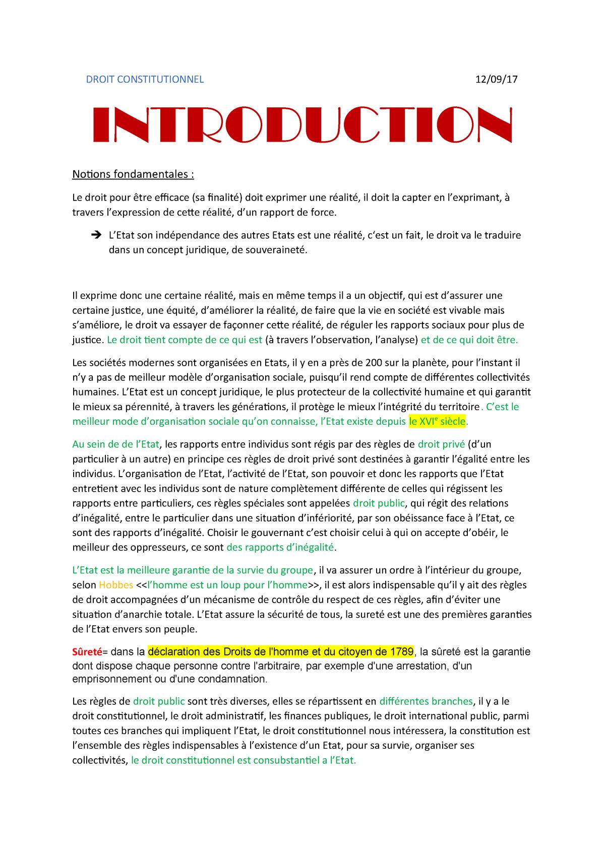 Droit constitutionnel - Unistra - StuDocu