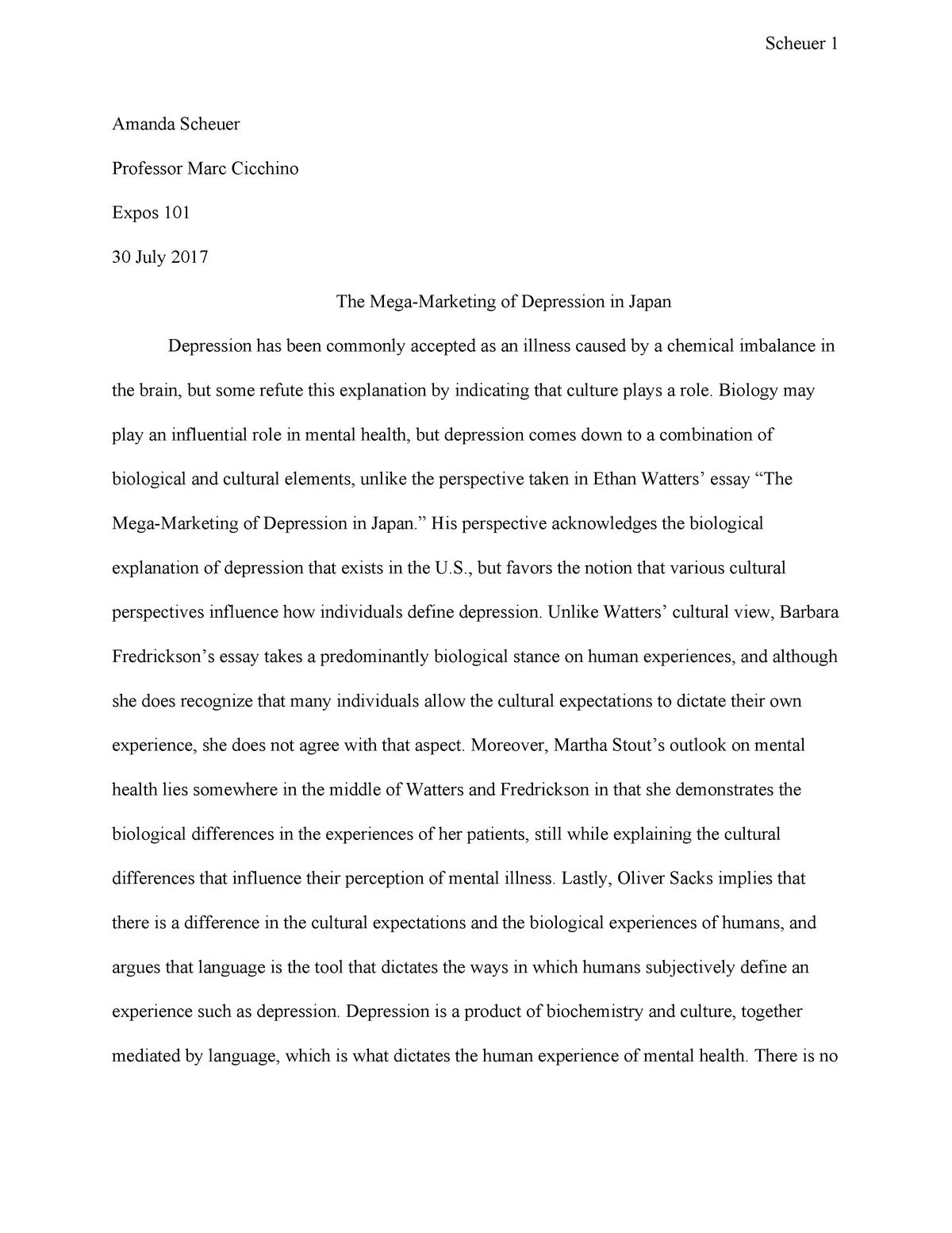 Dissertation writing and depression