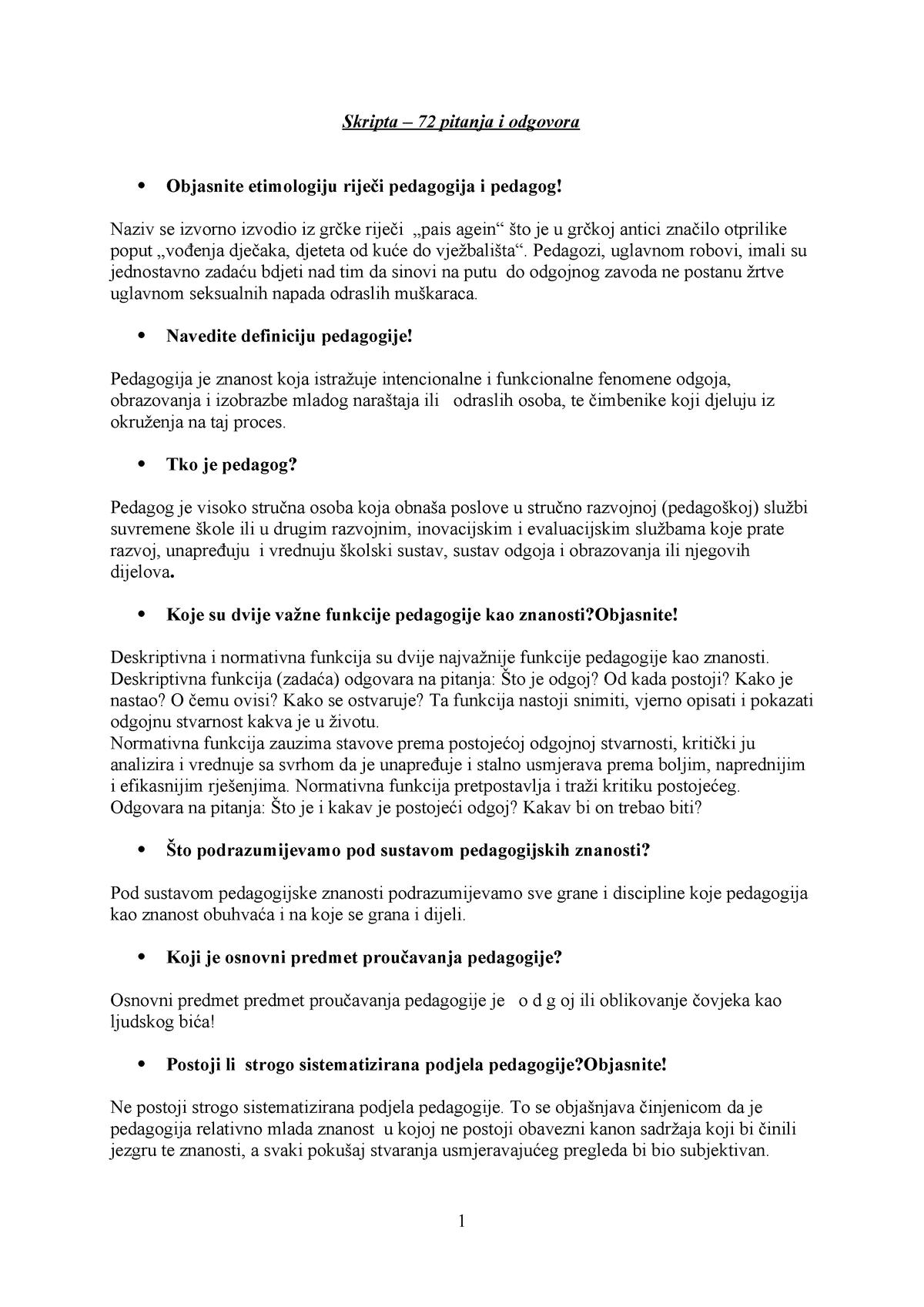 Odgovori datiranje