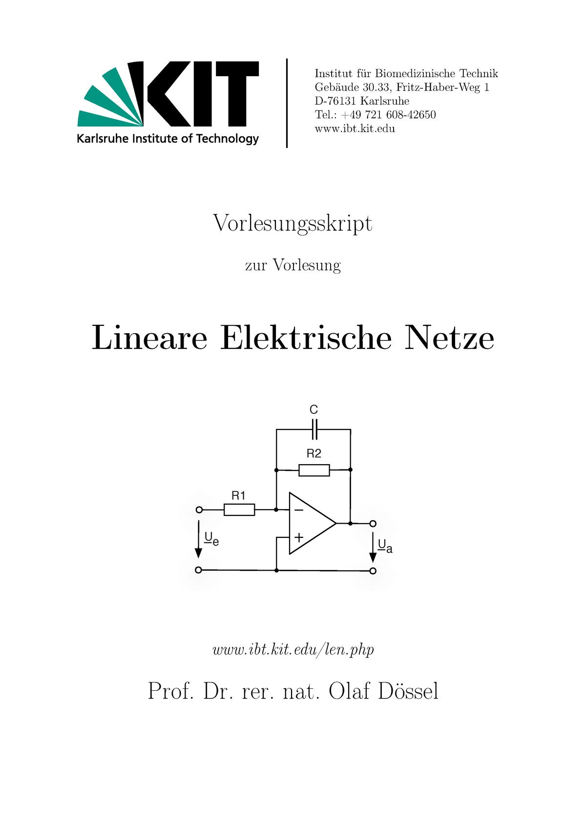 LEN Skript - 36856: Elektrodynamisches Verhalten in