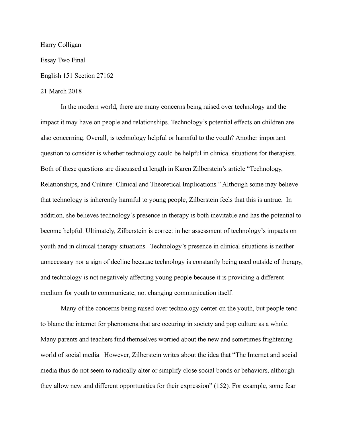 essay about technology in education