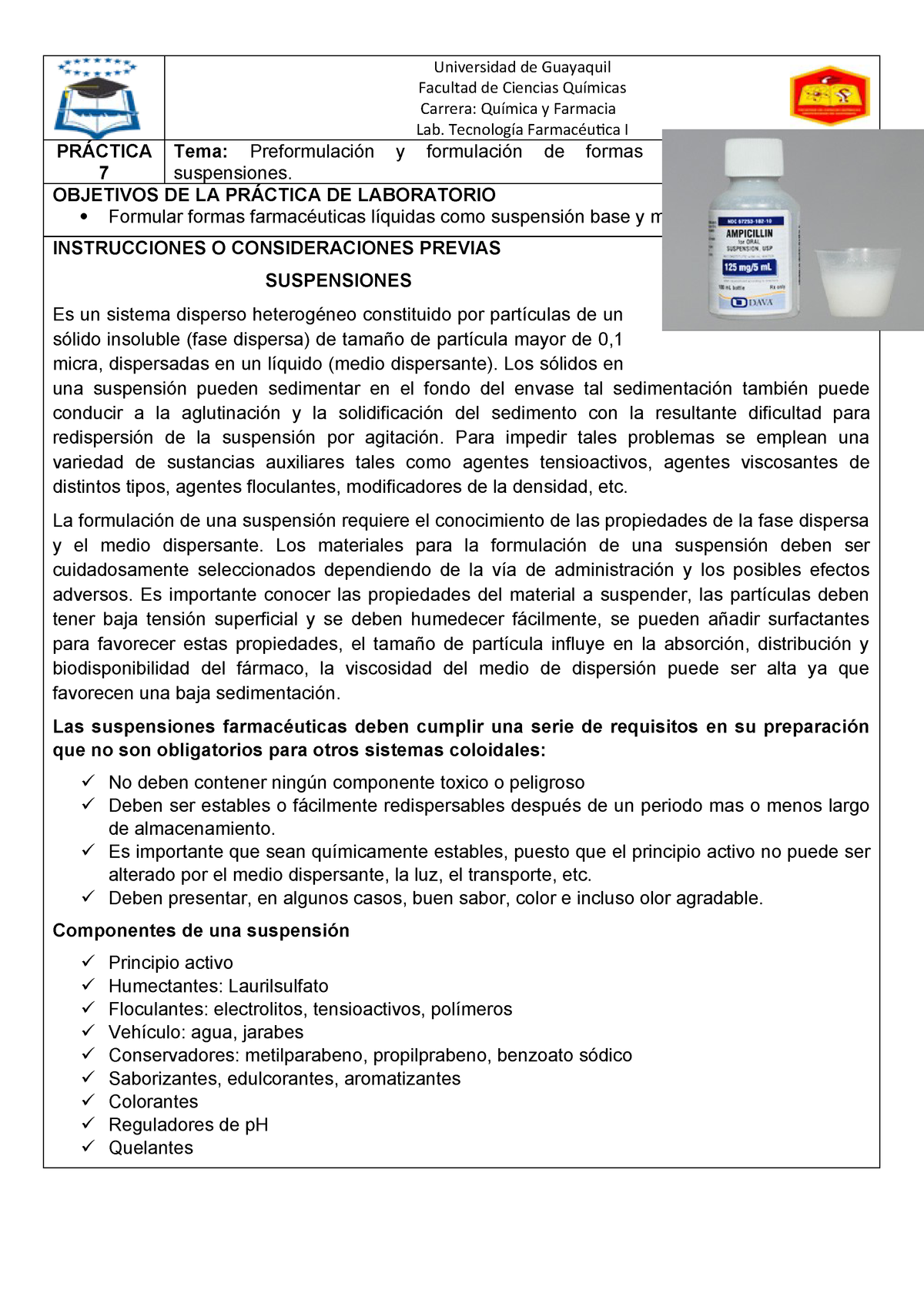 Suspensiones farmaceuticas conclusiones