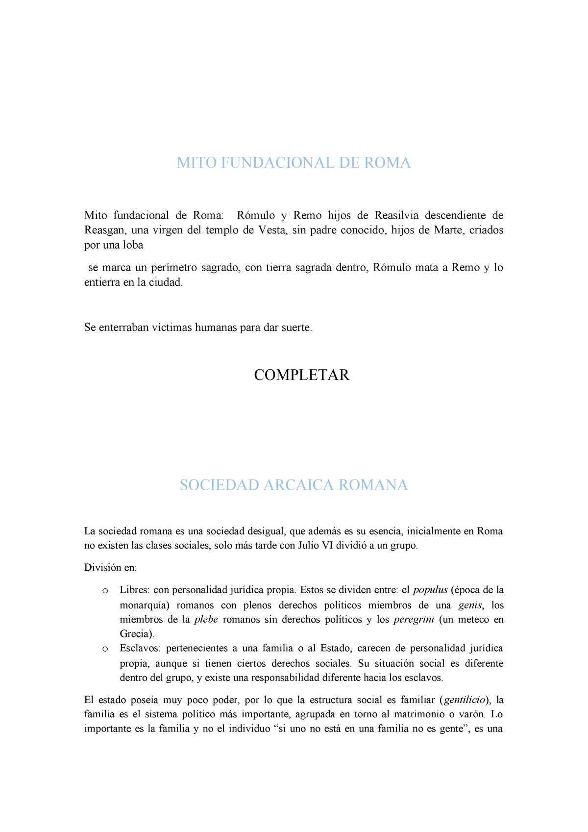 Sociedad Arcaica Romana 803861 Studocu