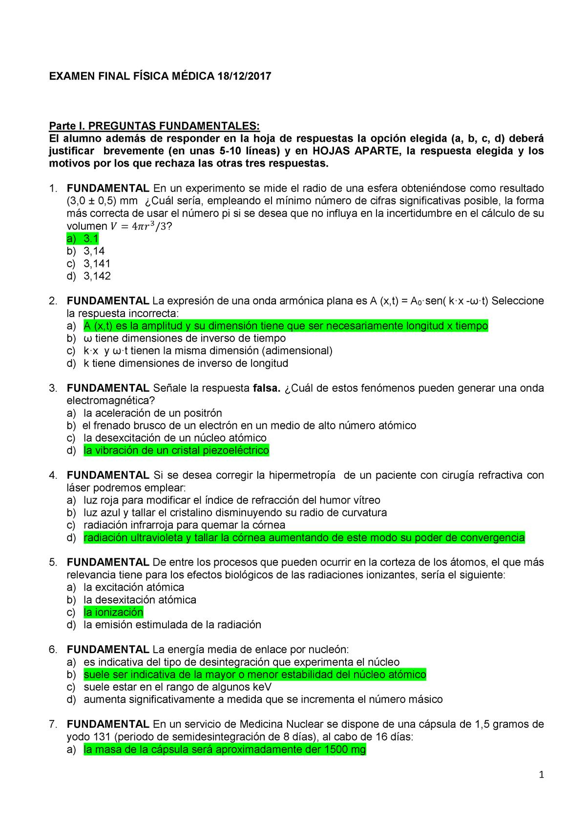 Examen 18 Diciembre 2017 Preguntas Y Respuestas Studocu