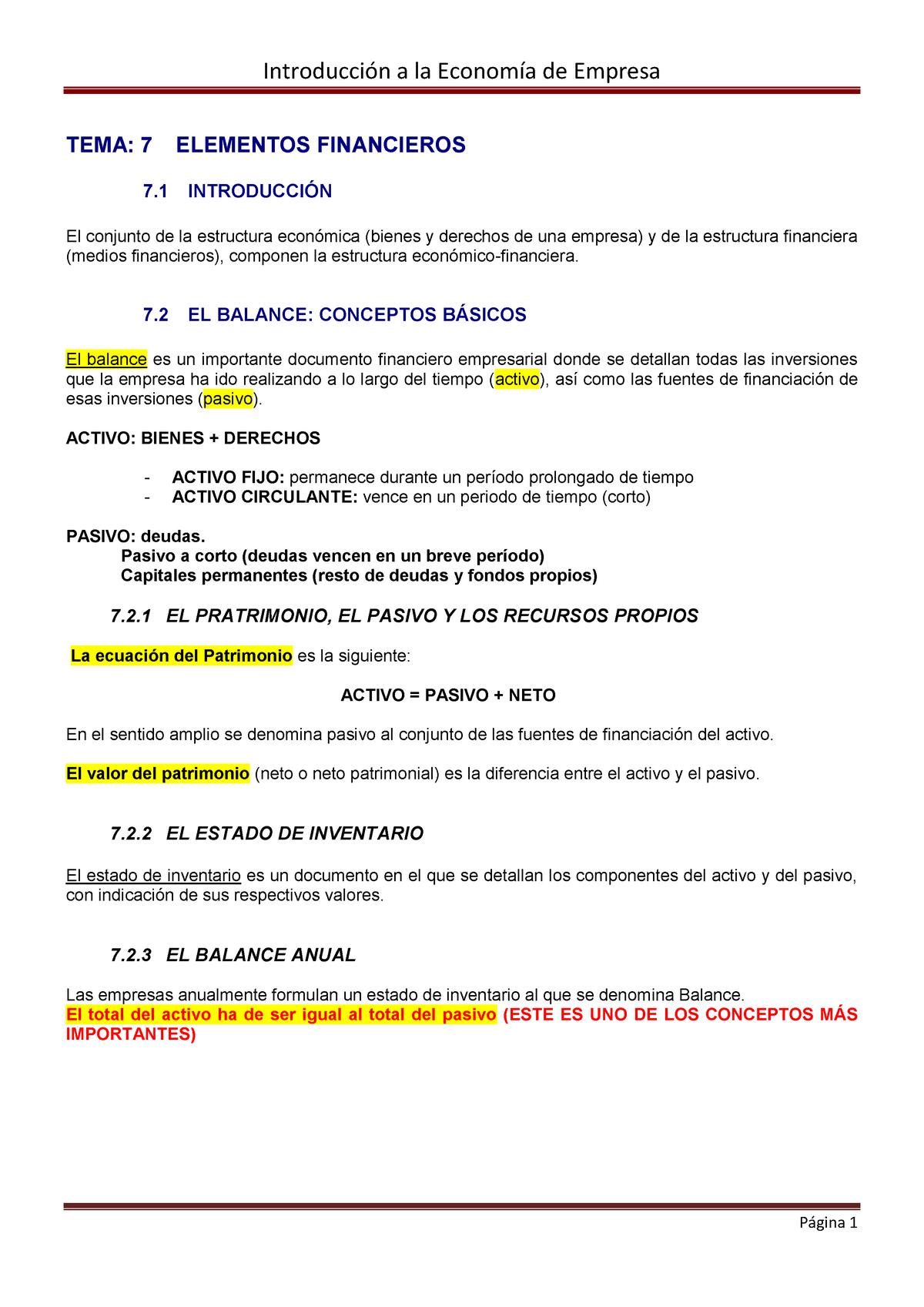Temas 7 11 Introducción A La Economía De La Empresa Studocu