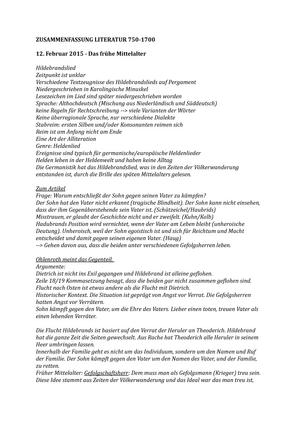 Zusammenfassung Literatur Duitstalige Literatuur In Context 750 1700