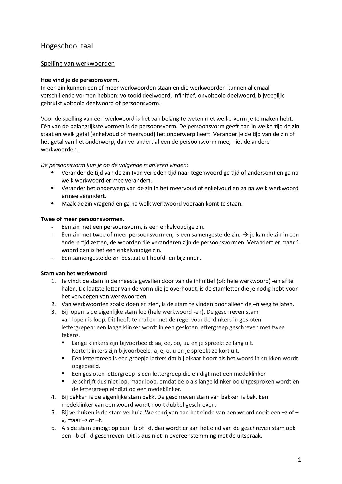 Samenvatting - compleet - Op c1 niveau - Hogeschooltaal