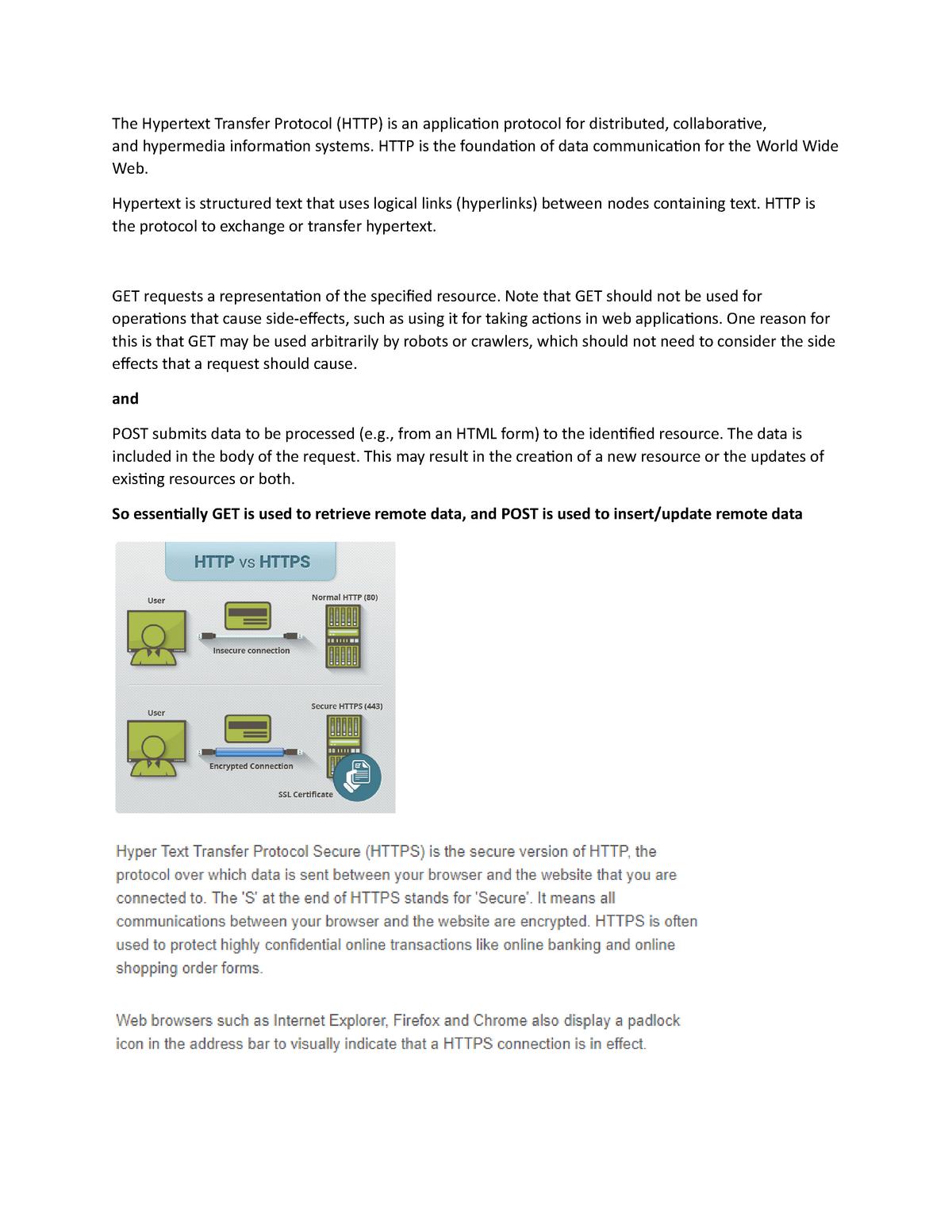 HTTPS REQUEST VS HTTP REQUEST - 2406 final review - Musi