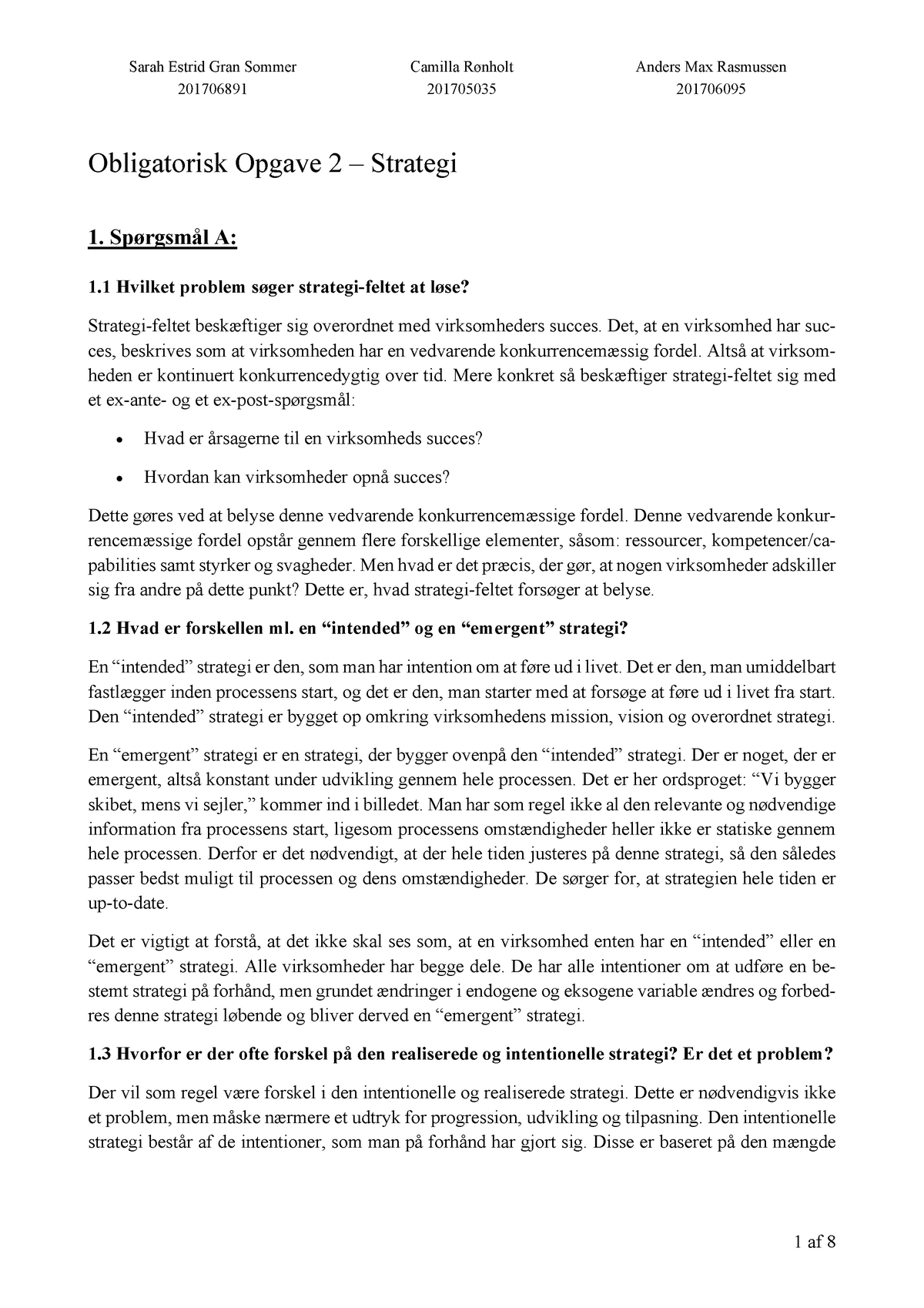 04aab456 Mandatory assignment - marketing - 4620720024: Marketing Management and  Strategy - StuDocu