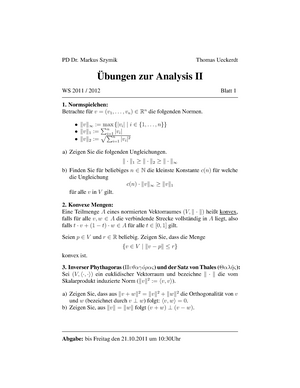 übungen zur Analysis 2 1-12.pdf - 124293: Analysis II - StuDocu