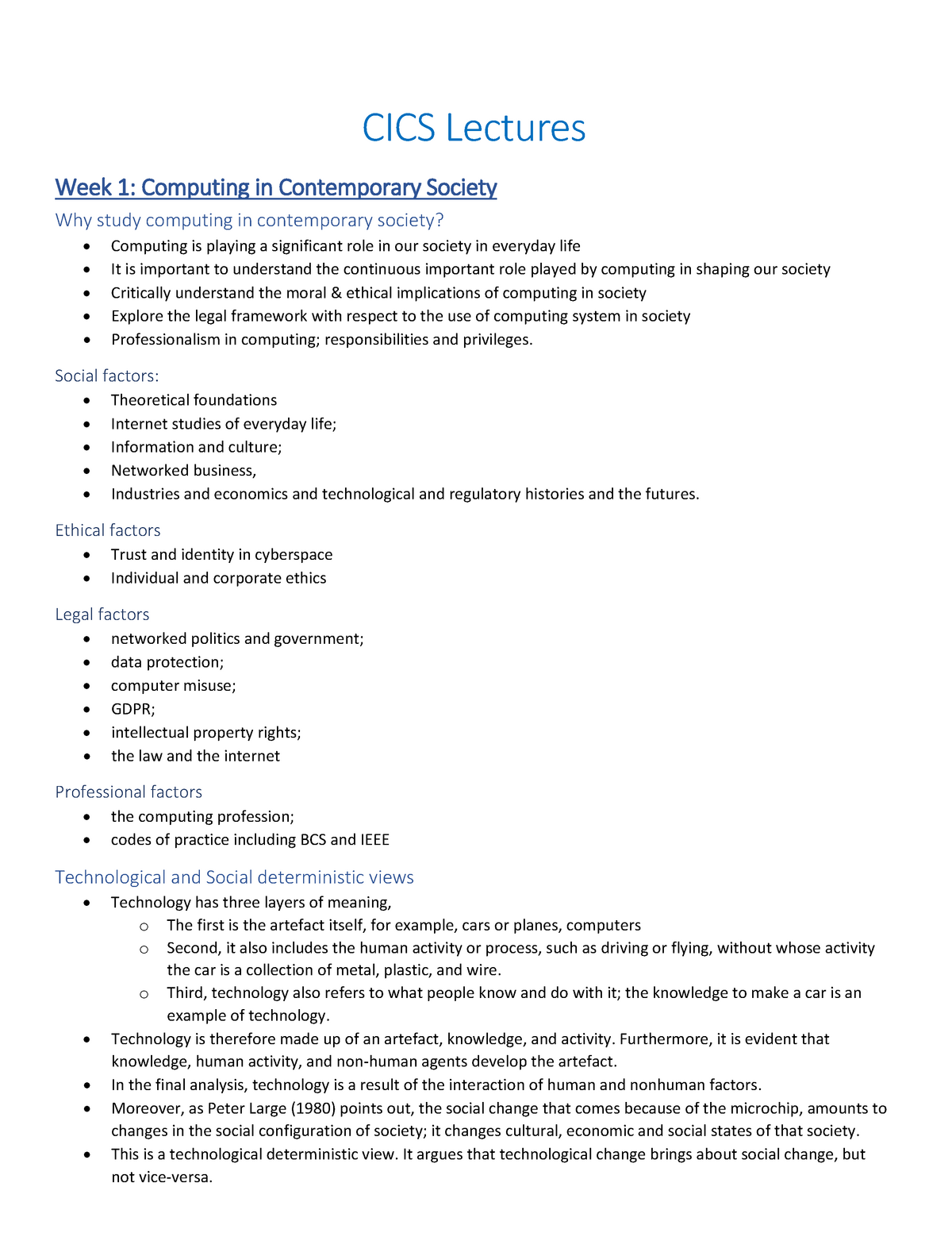 CICS everything - Summary Computing in Contemporary Society