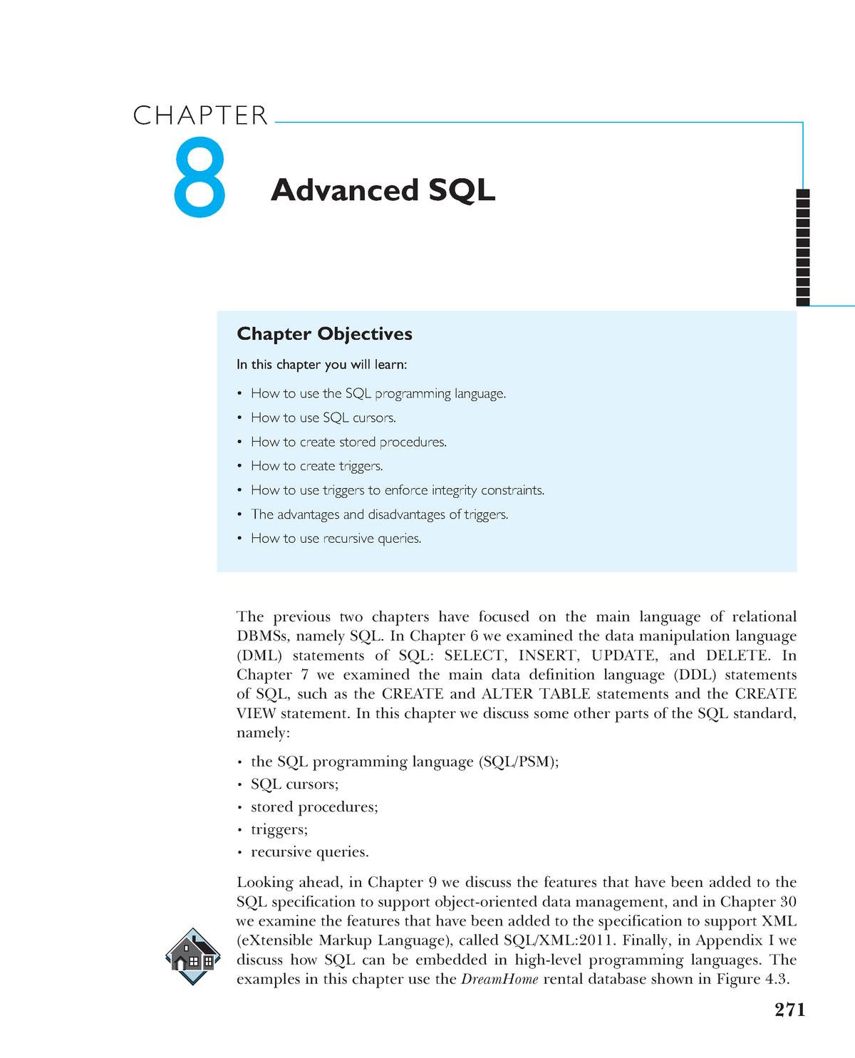 Chapter 08 Advanced SQL - ITC423: Database Systems - StuDocu