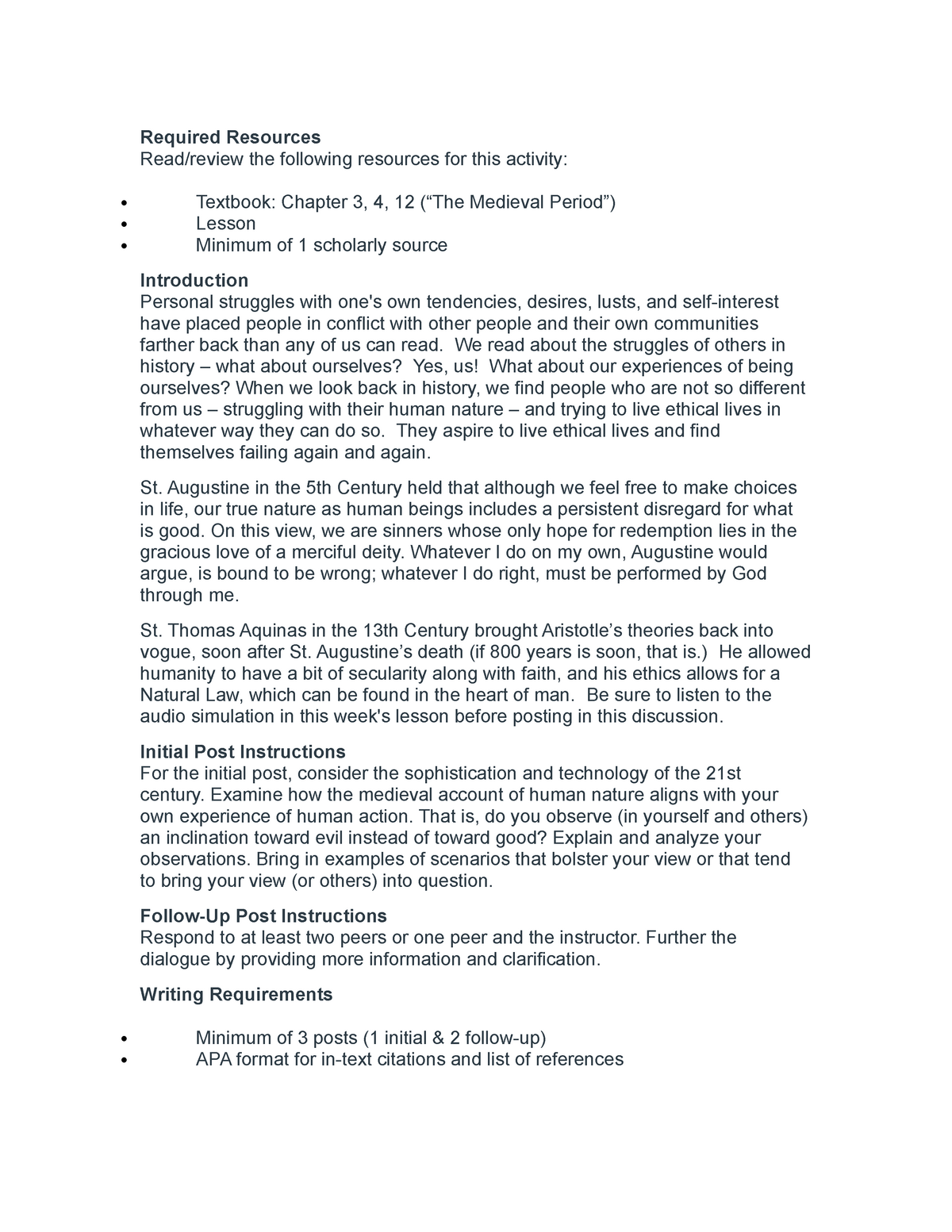 Wk 2 ethic discussion - 445: Ethics - StuDocu