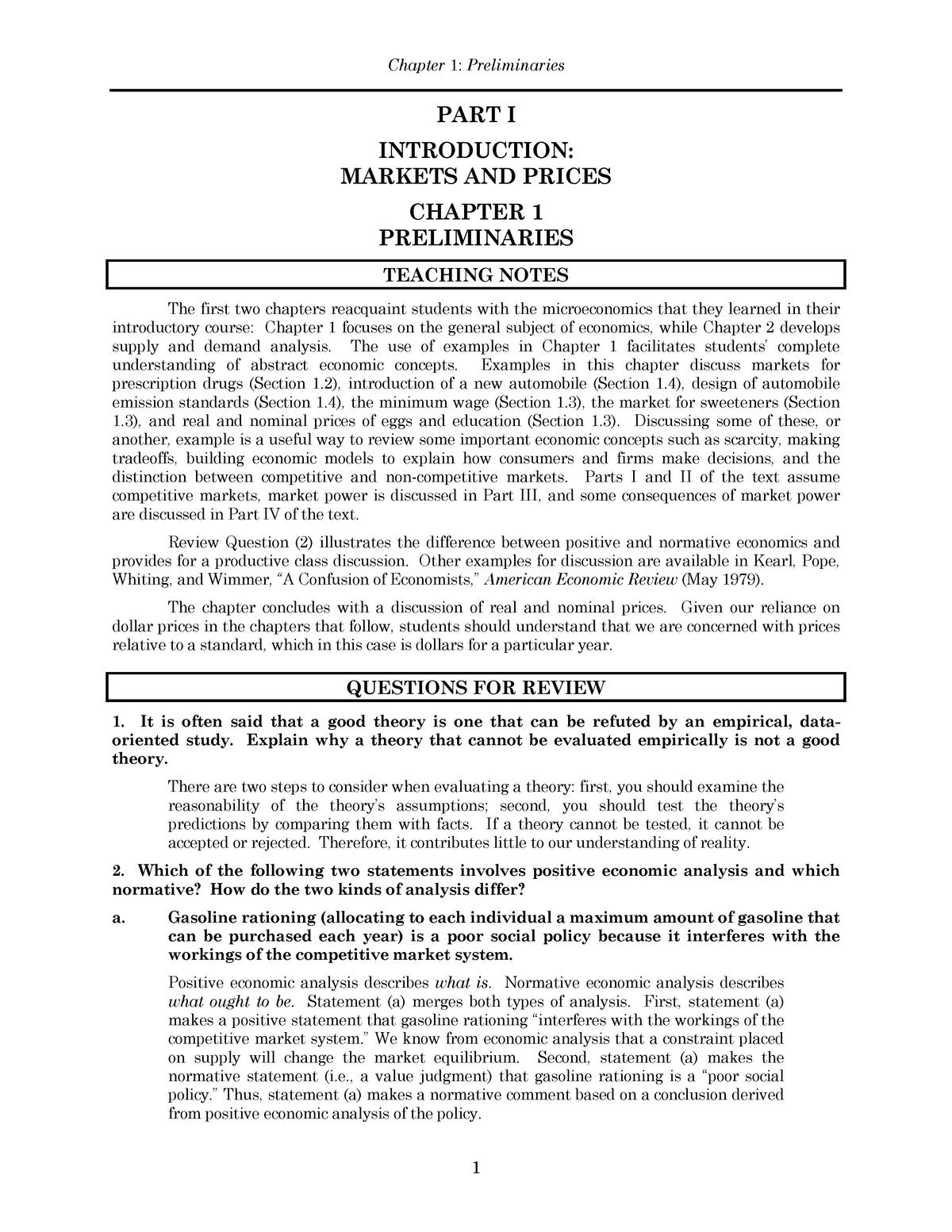 Solutions Manual Microeconomics Micro Economie Uva Studeersnel