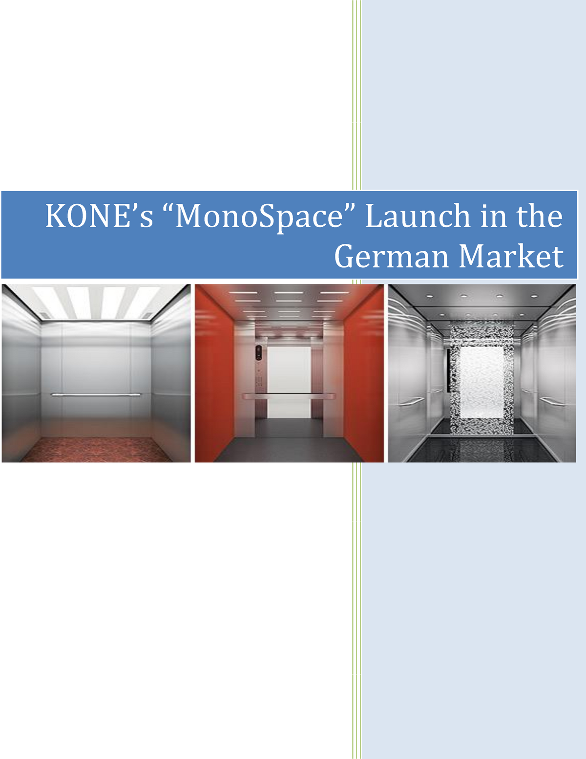 Kone-Writeup-Final - MRKT 371 Marketing Management - StuDocu