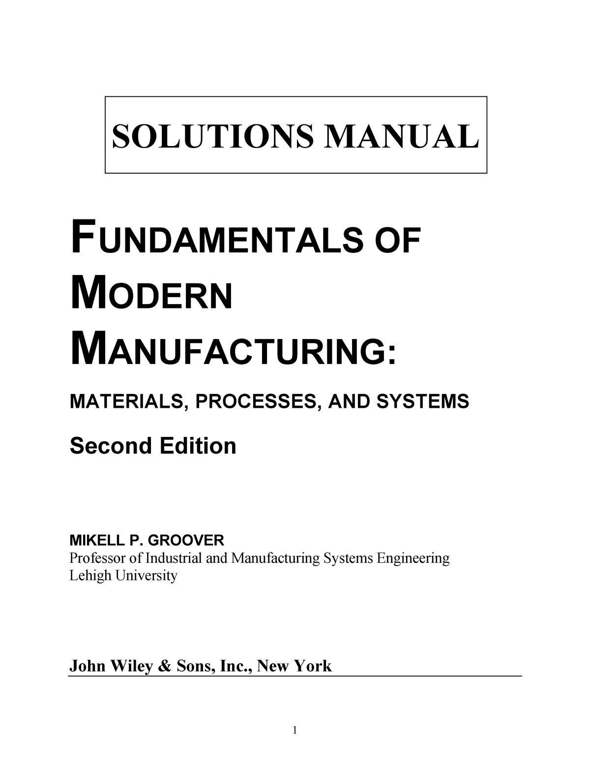 Solucionario de Fundamentos de Manufactura Moderna 2da
