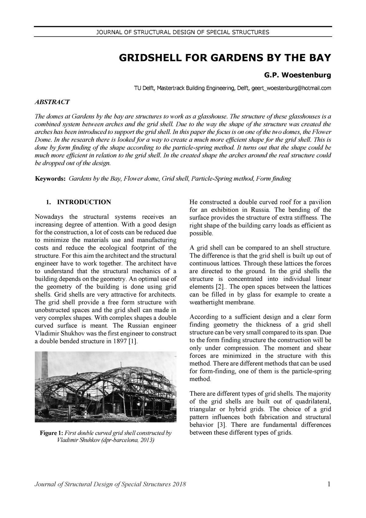 4207432 - Woestenburg - Gridshell for Gardens By The Bay - CIE5251