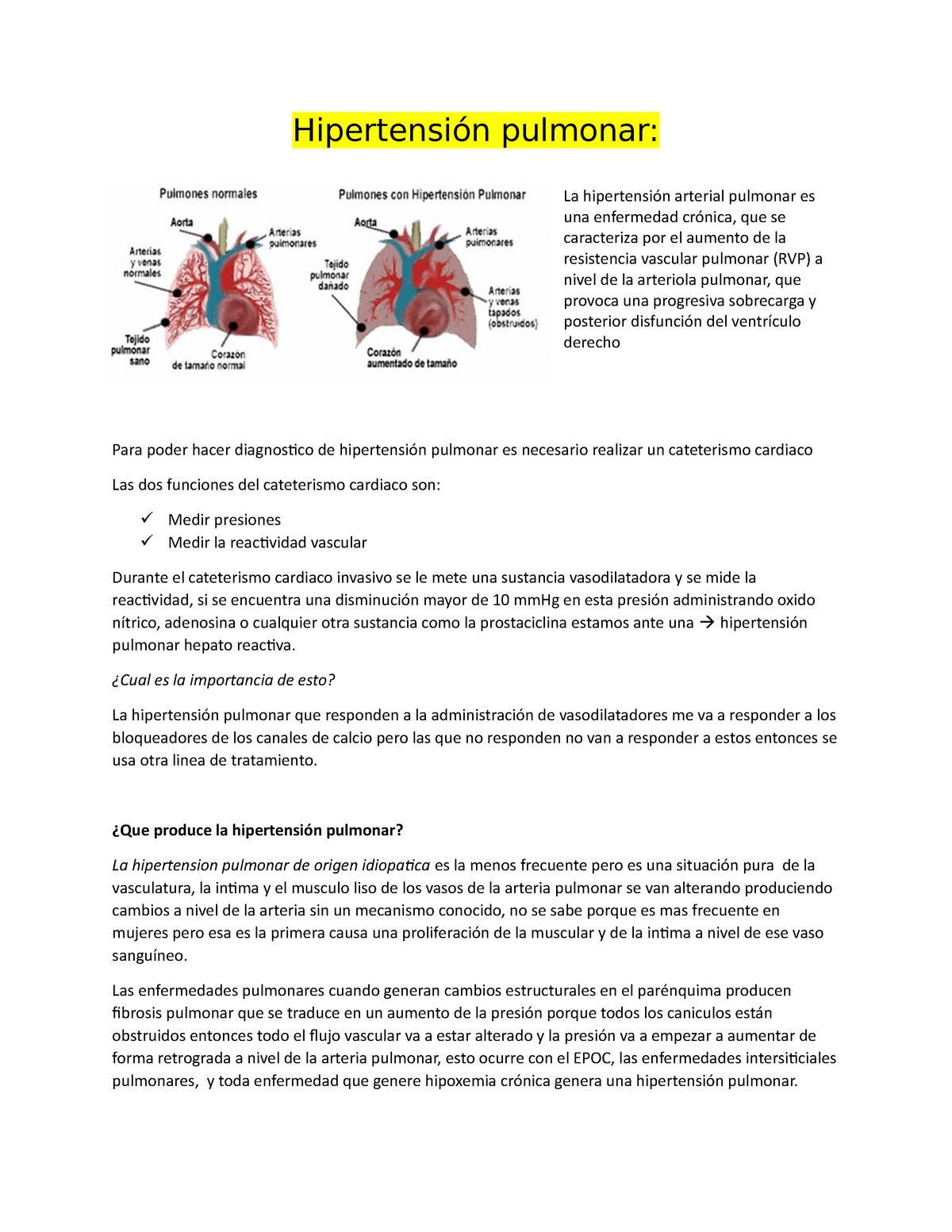 ¿Cómo sé si tengo hipertensión pulmonar?