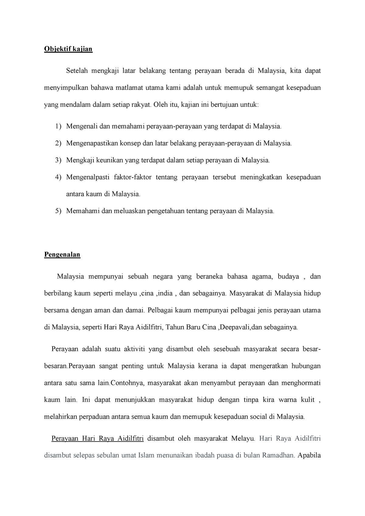 He Multiracial Complete Assignment Report For The Subject Mpu3113 Hubungan Etnik About The Studocu