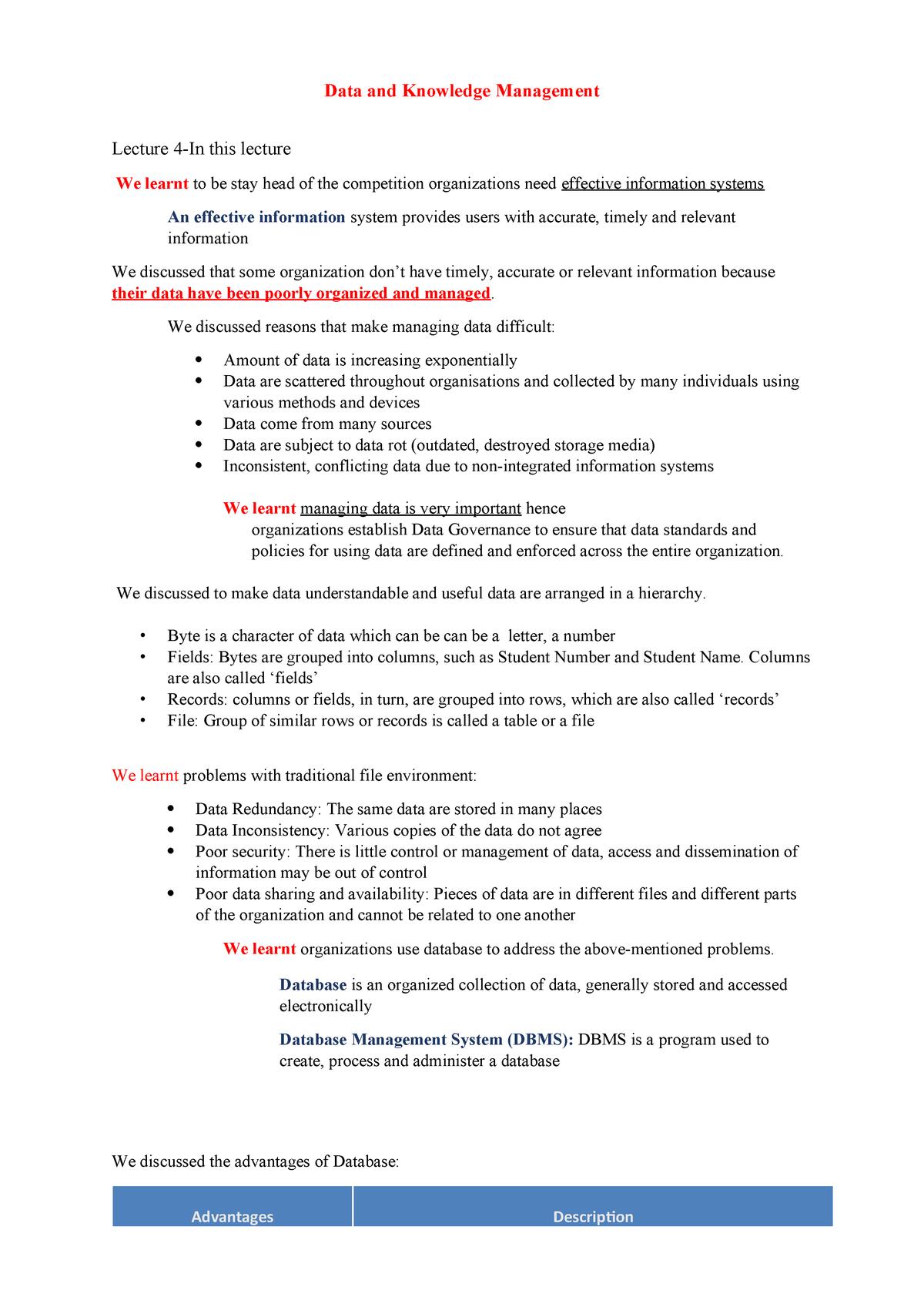 Lecture 4-8Summary(20 - C10219v4 - UTS - StuDocu
