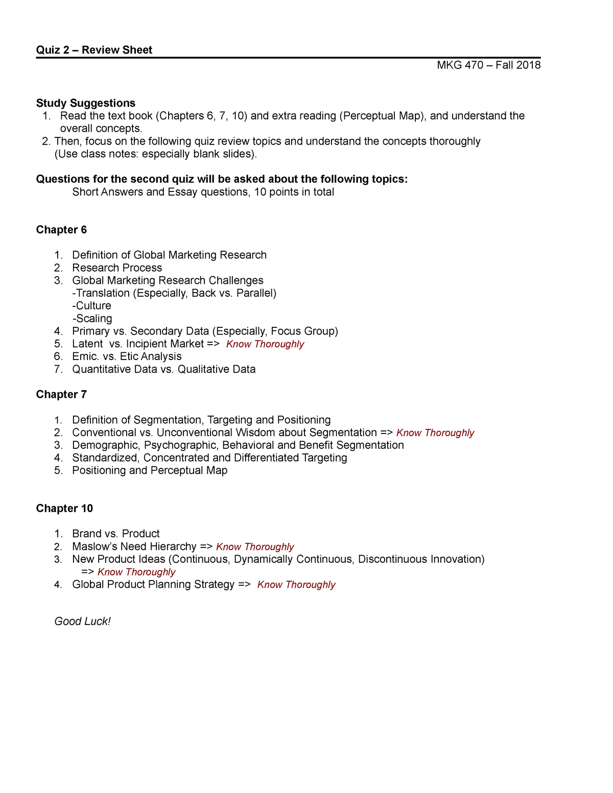 principles of marketing test bank chapter 7