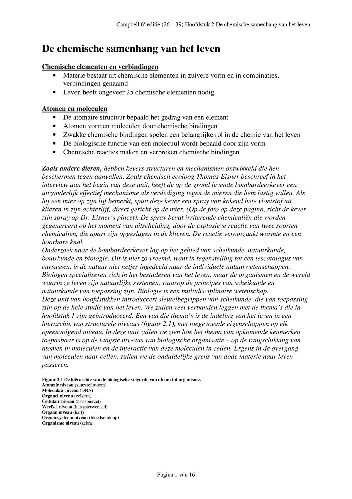 Samenvatting Campbell Hoofdstuk 2 Uitgebreid Studeersnel