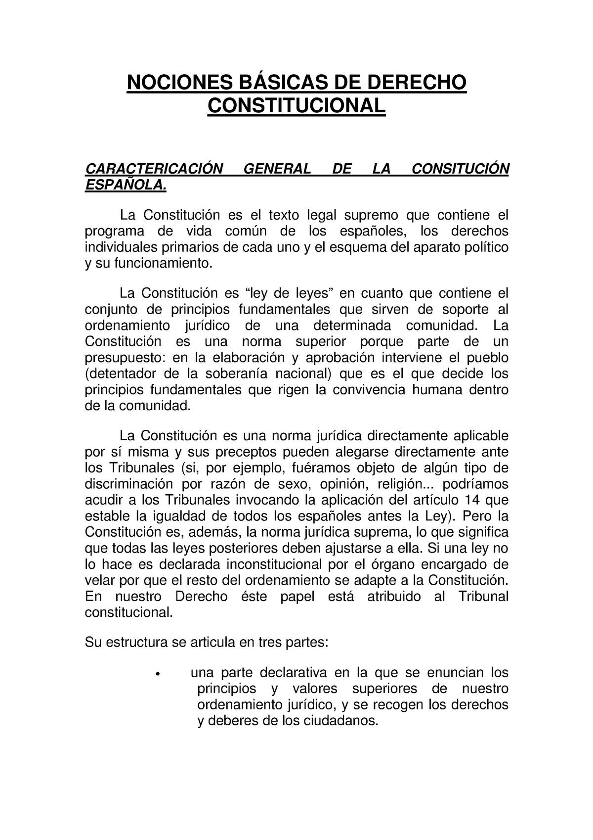 Nociones Básicas De Derecho Constitucional