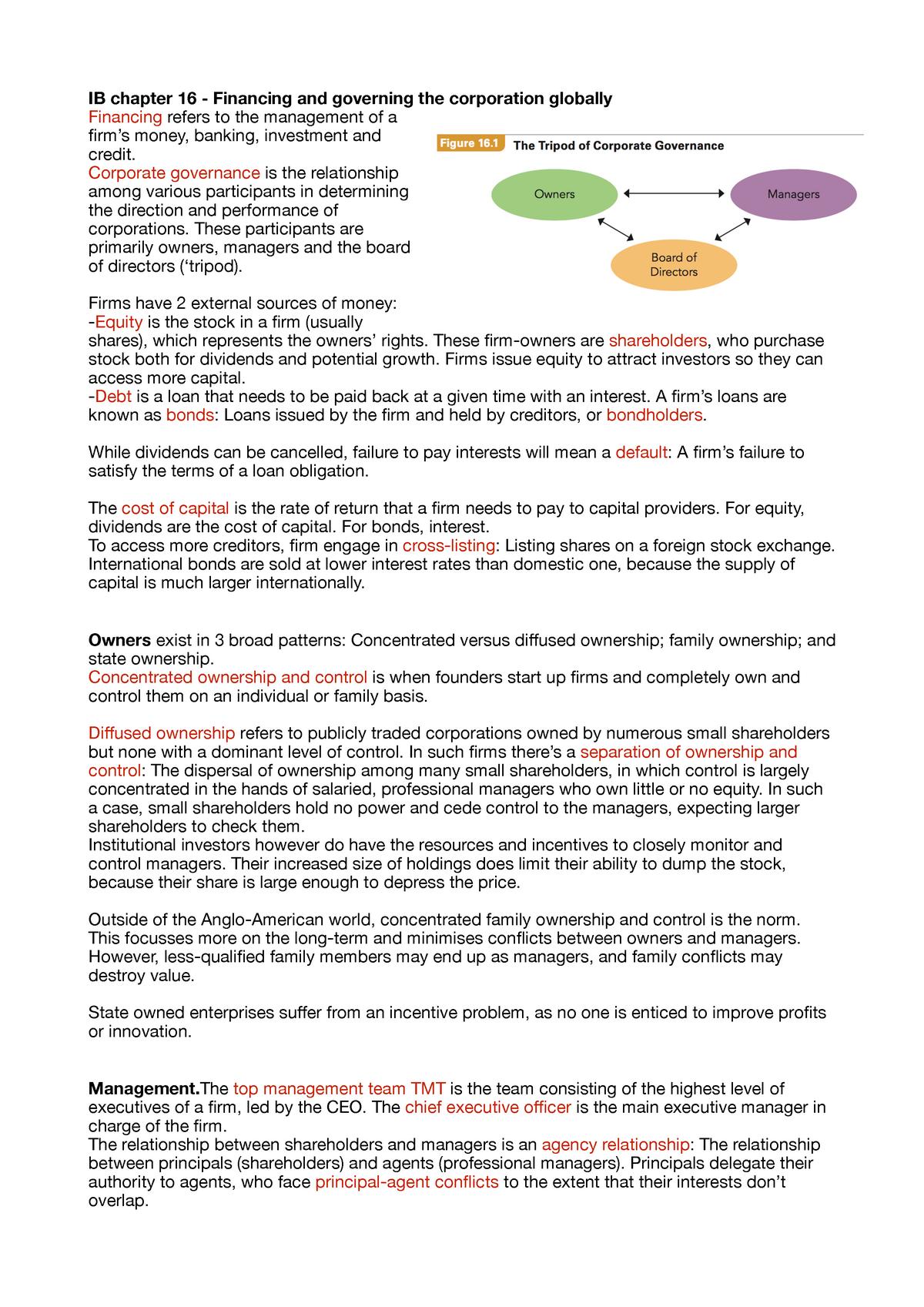 International business (Global business) summary