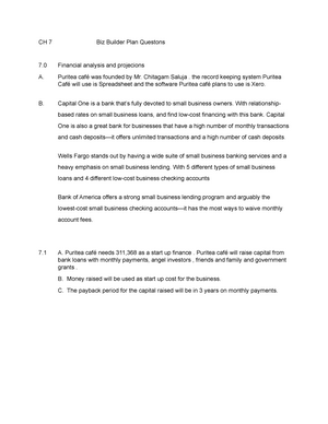 Chapter 7 biz builder - template for business plan sec tions - BUS
