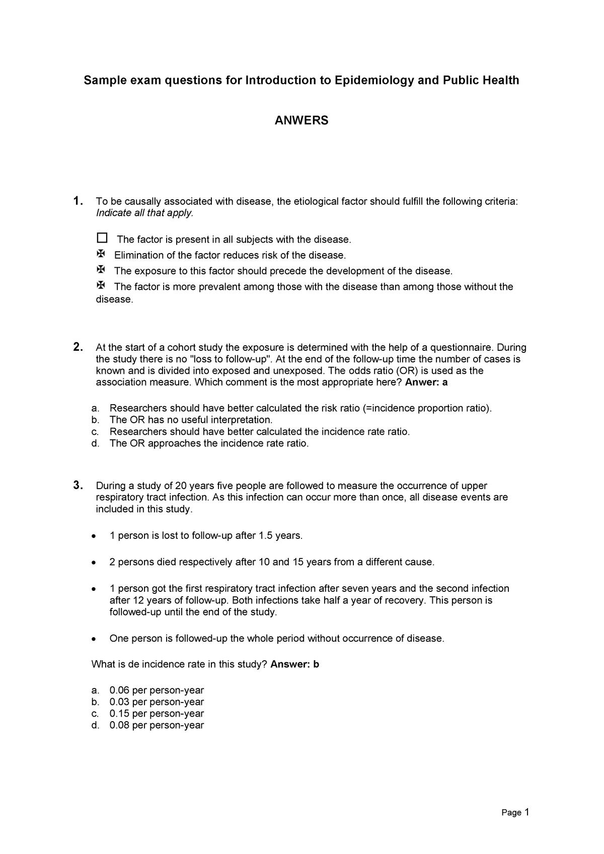 Exam answers - HNE-24806 - Wageningen University - StuDocu