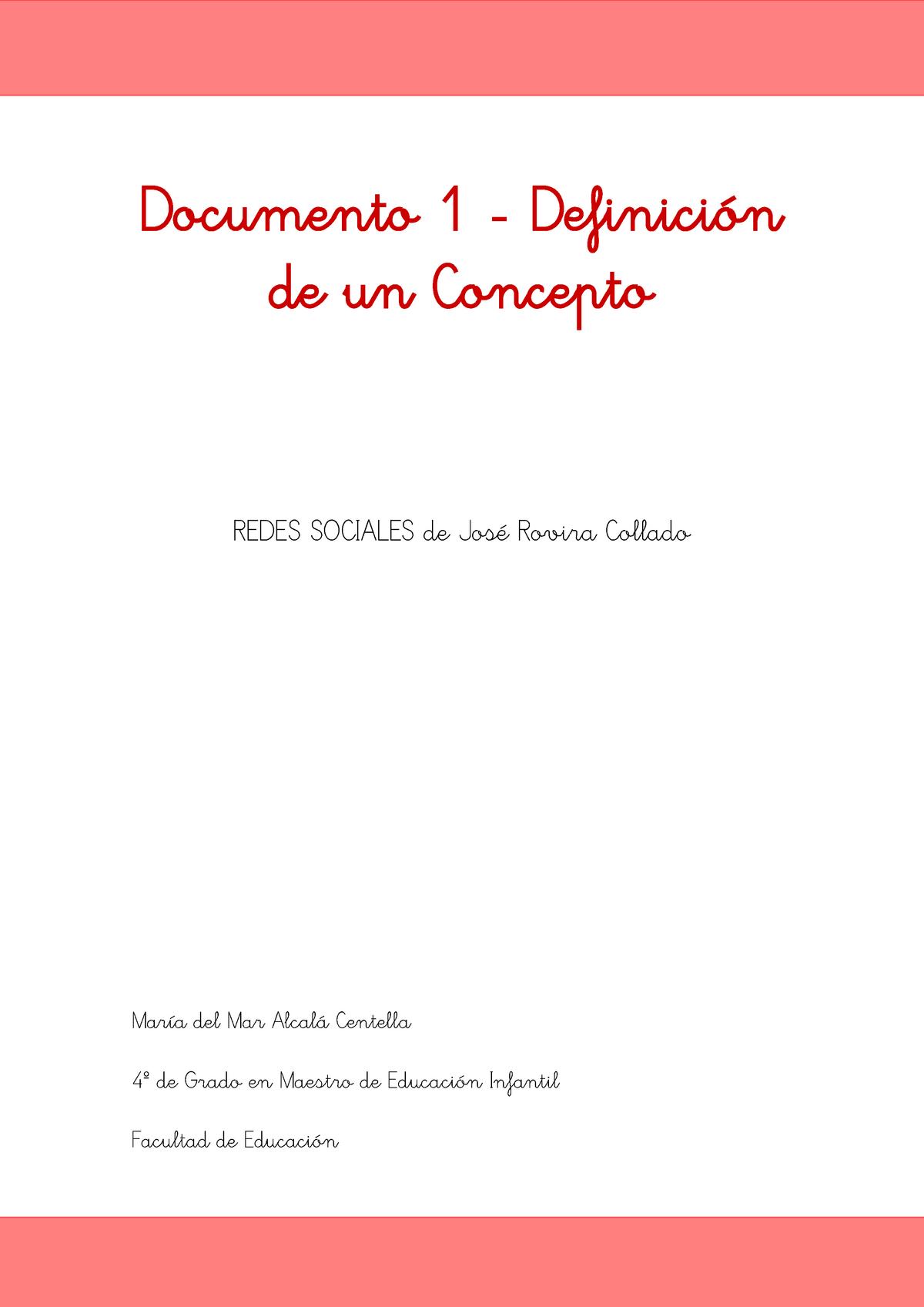 Práctica Definición De Un Concepto 501564 Uex Studocu