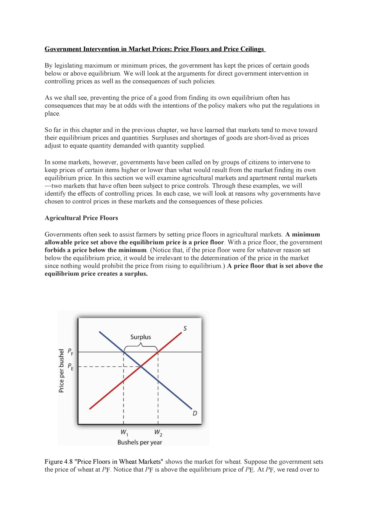Price Floor Ceiling Me Summary Intermediate Macroeconomics