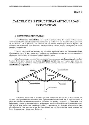 Tema 6 Calculo De Estructuras Articuladas Isostaticas