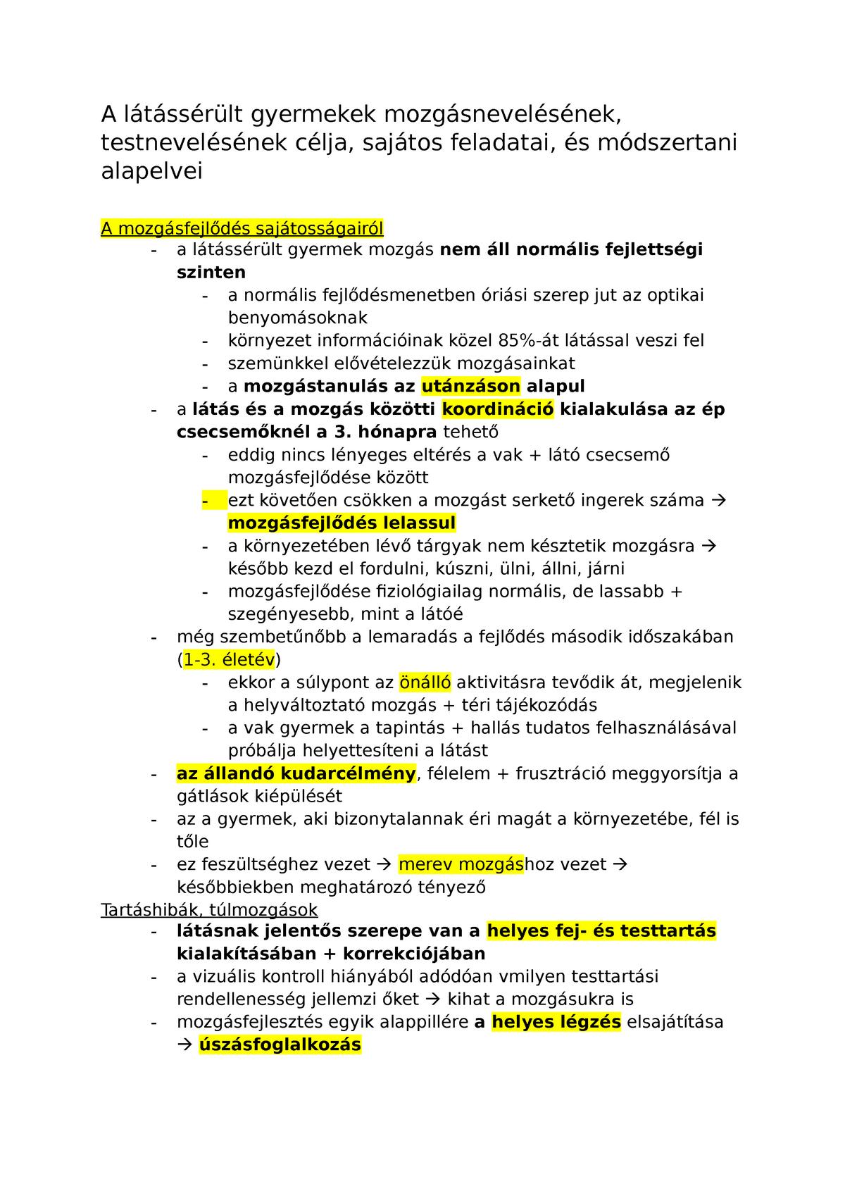 látássérült másodlagos rendellenességek)