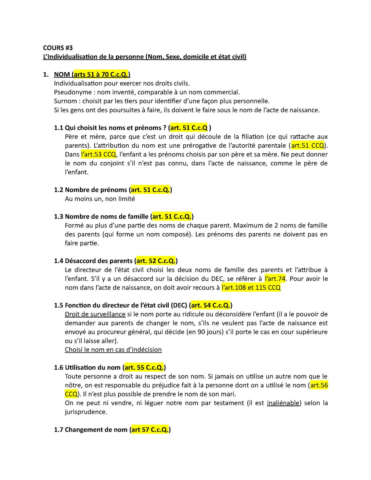 Notes De Cours 3 Michele Beaupre Drt118 Usherbrooke