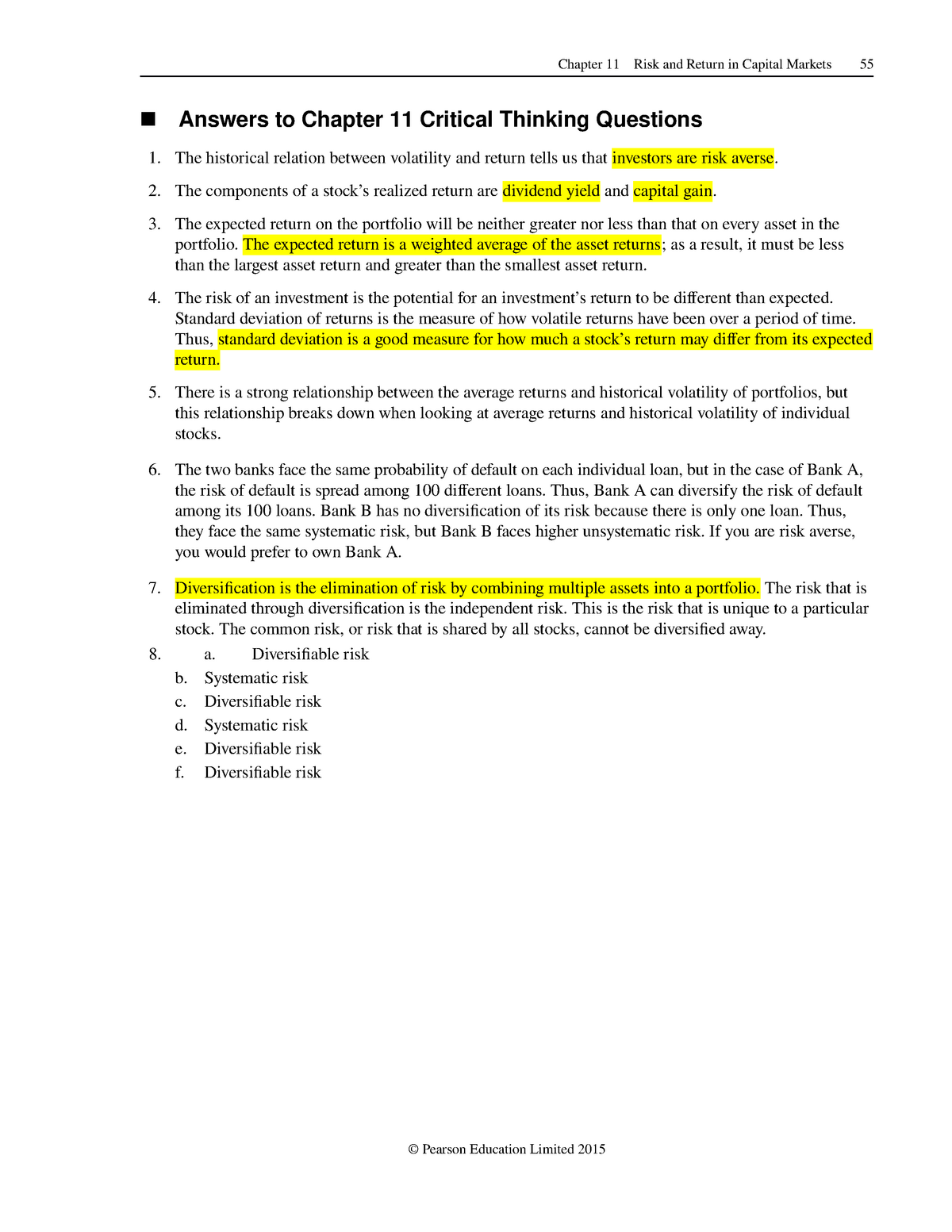Answers To Chapter 11 Critical Thinking Questions Studocu