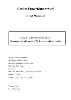 Deutsch Stundenentwurfe Bericht Protokoll 4teachers De 2