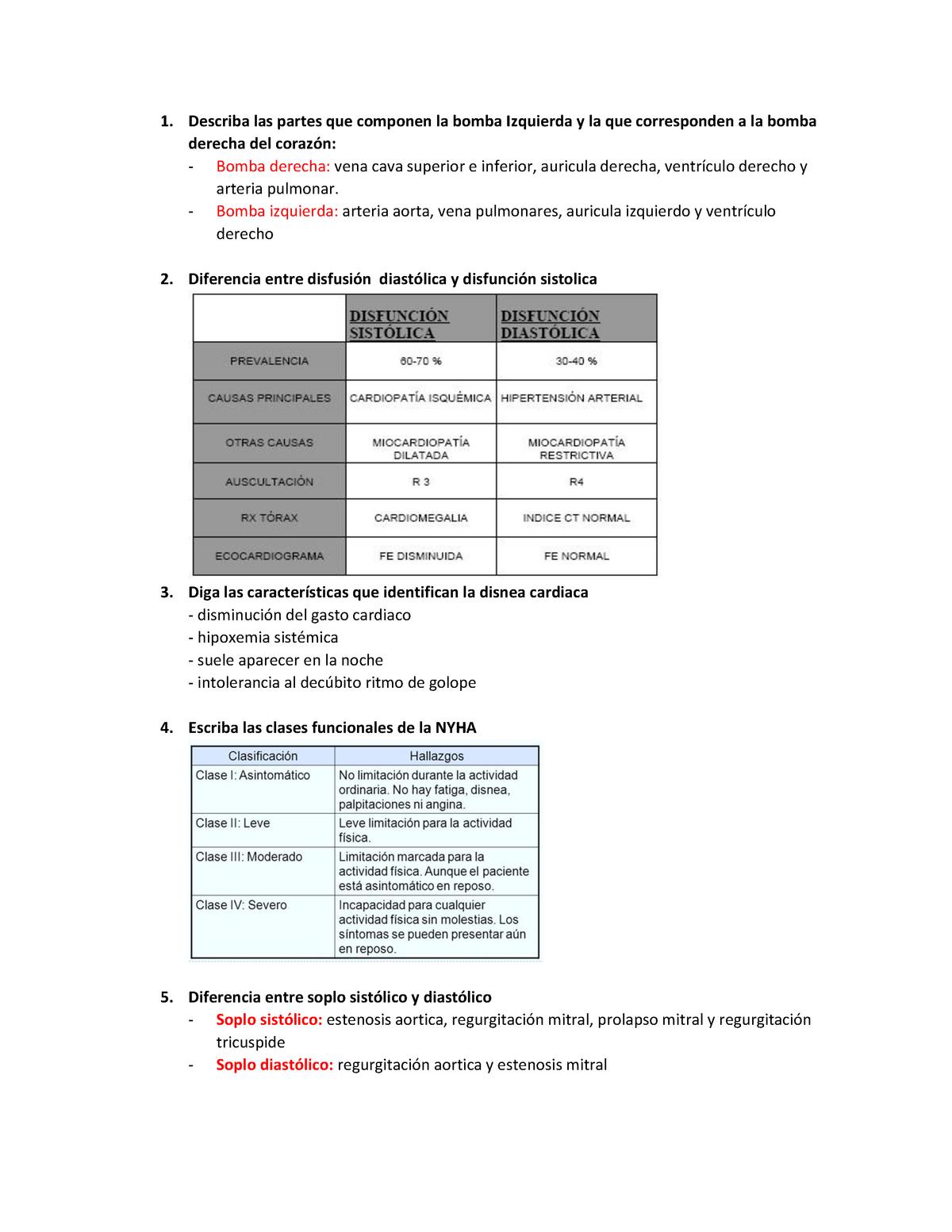 Diferencia entre un soplo sistólico y diastólico